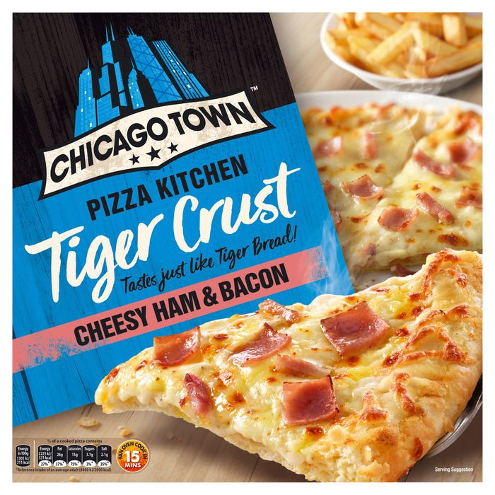 Chicago Town Pizza Kitchen Tiger Crust Cheese Ham & Bacon