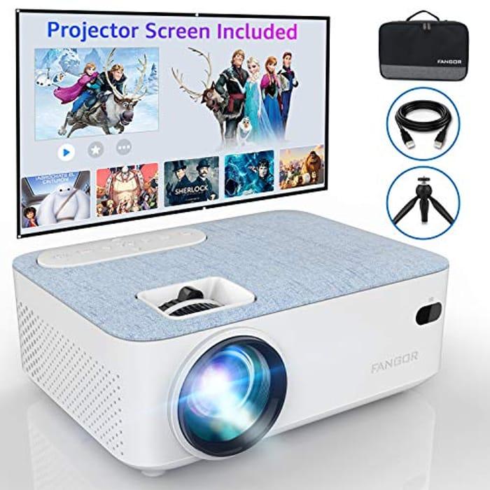 Projector FANGOR 4500 Lux Portable Mini Projector Support HD 1080P