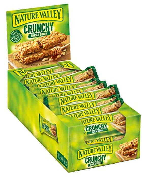 Best Ever Price! Nature Valley Crunchy Oats & Honey Cereal Bars 42g (Pack of 18)