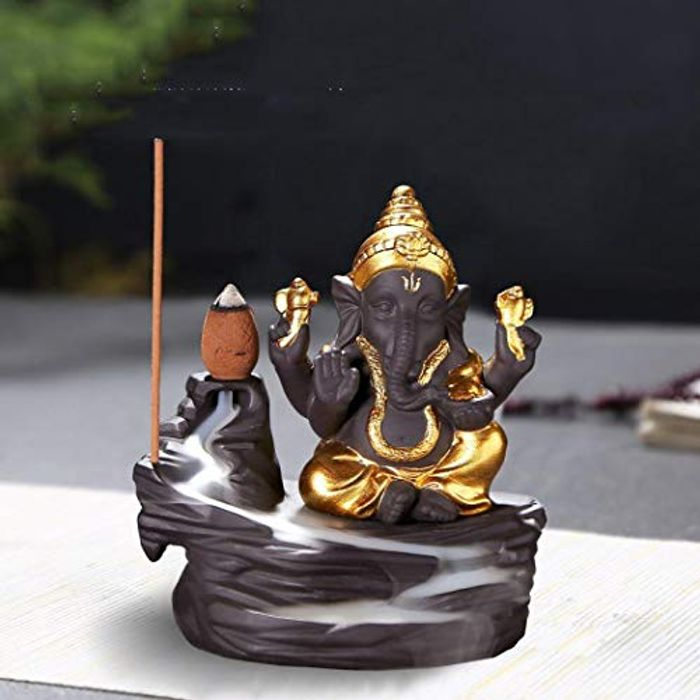 Backflow Incense Burner with 10pcs Backflow Incense Cone