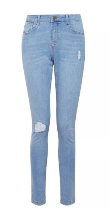Blue Lightwash Rip Harper Jeans - Save £5