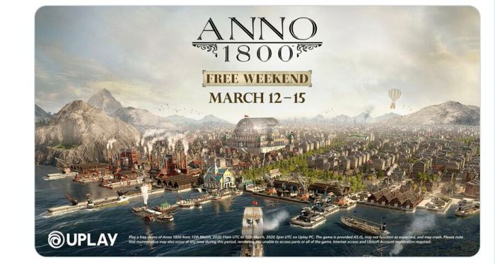 Play the Award-Winning Anno 1800 for Free from March 12-15.