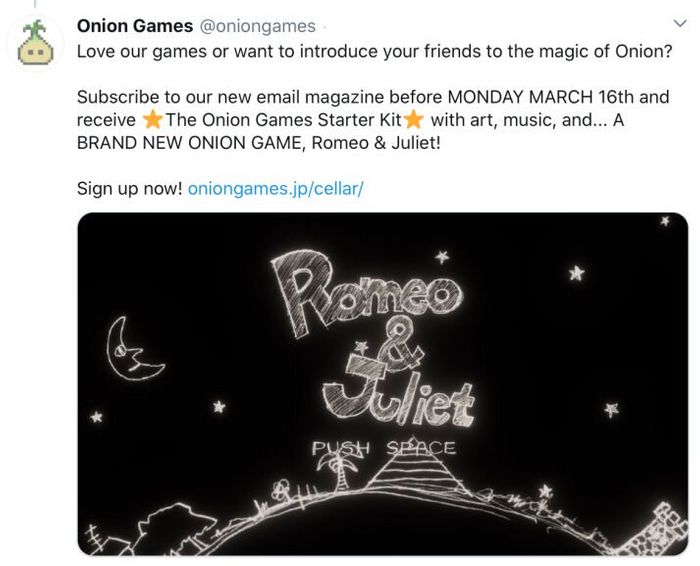 Free Game When Joining Mailing List at Onion Games