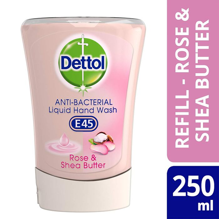 Dettol No-Touch Refill Anti-Bacterial Hand Wash, Rose & Shea Butter