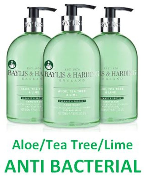 Baylis & Harding Aloe/Tea Tree/Lime ANTI BACTERIAL Hand Wash (3 PACK)