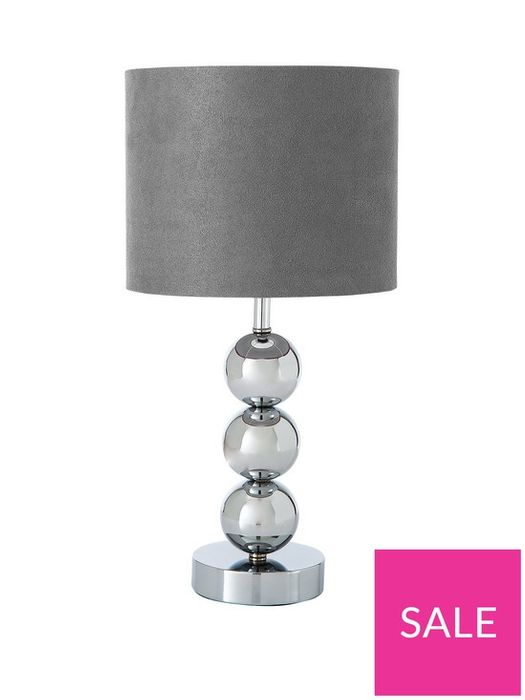 Ingrid Faux Suede 3-Ball Table Lamp