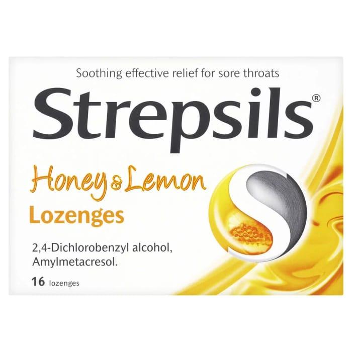Strepsils Honey and Lemon Lozenges 16 Pack