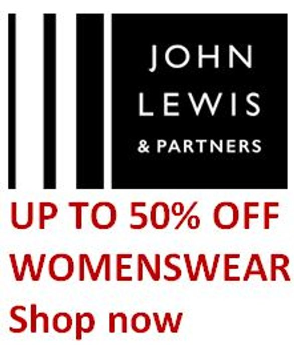 Up to 50% off Womenswear at John Lewis - Jigsaw/Phase Eight/Ted Baker/Hobbs Etc