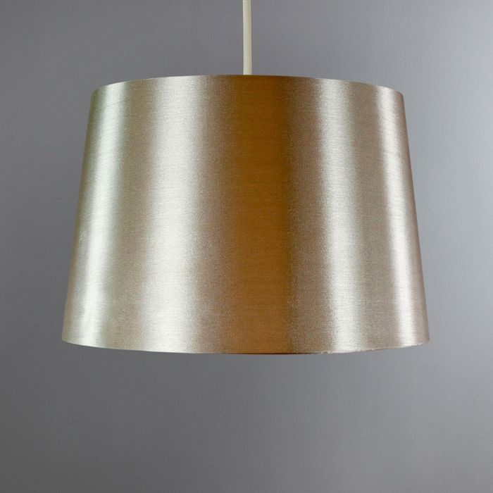 Ruby 29cm Gloss Champagne Drum Shade Only £2.80