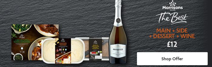 Morrisons The Best Dine In For 2 Meal Deal Inc Wine & Dessert - £12