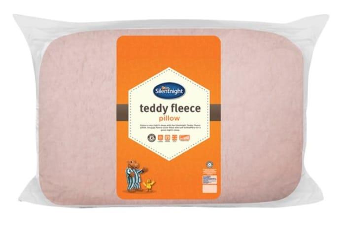Silentnight Snuggly Teddy Pillows - Blush Or Silver HALF PRICE!