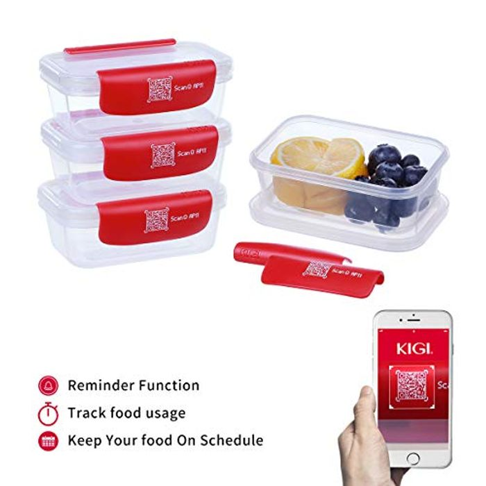 Deal Stack! KIGI Baby SmartTrack Food Containers with Clip Lids- 4 Pack