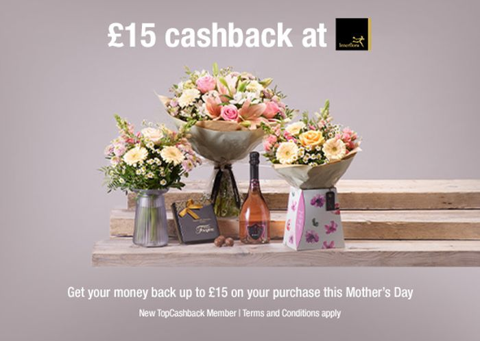 Free Flowers at Interflora For Mother's Day up to £15 after Cashback