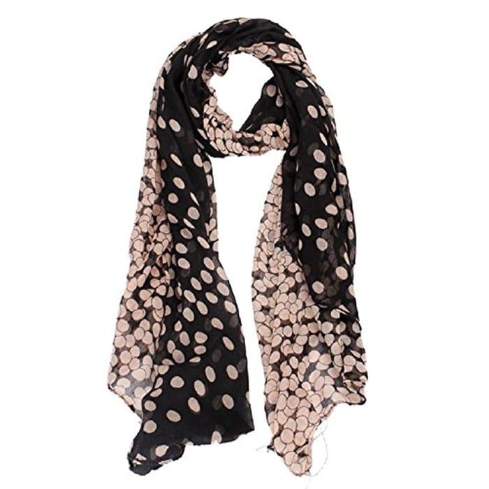 Fashion Lady Womens Long Polka Dot Scarf Wrap Shawl Stole Soft Scarve
