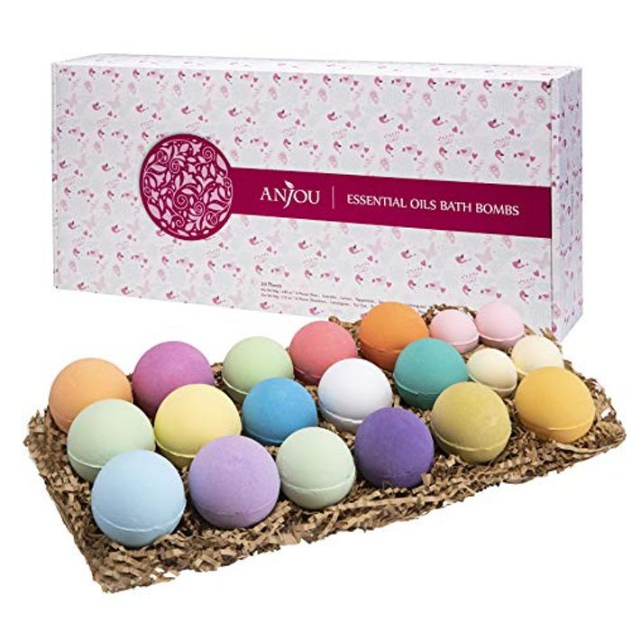 Bath Bombs Gift Set, Anjou 20 Pack