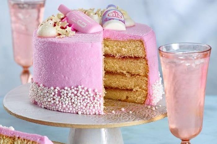 Brand New - Asda Pink Gin Cake Just £12 - Serves 18?!
