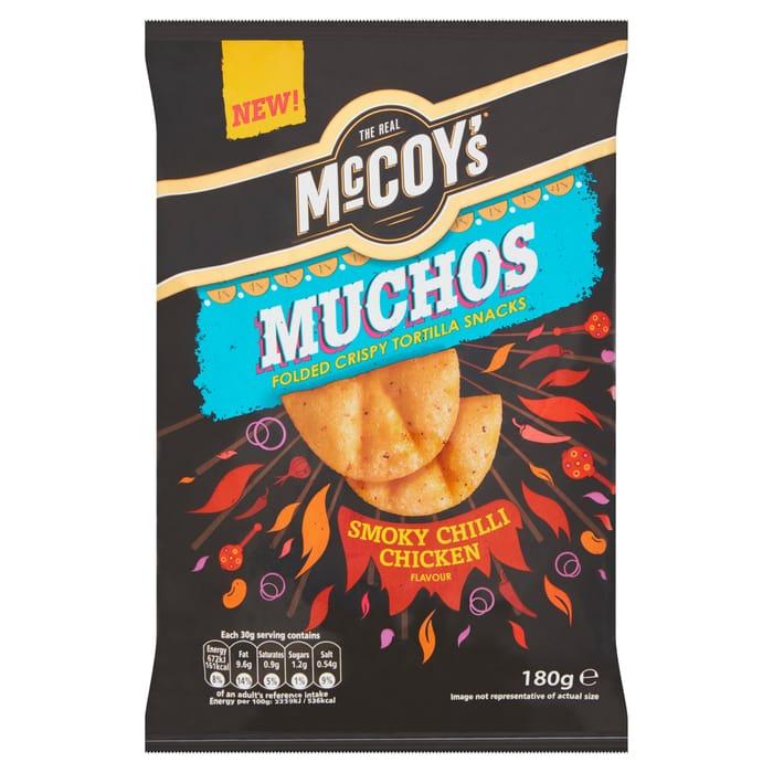 Mccoy's Muchos Smokey Chilli Chicken 180G Was £1.99 Now £1 @Tesco