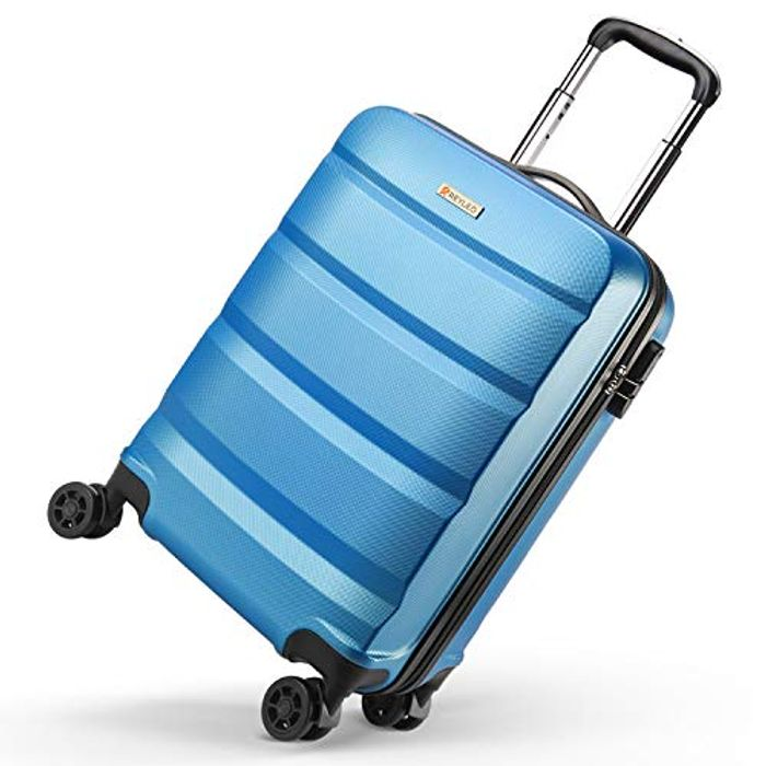 Deal Stack! REYLEO Hard Shell Cabin Luggage Suitcase