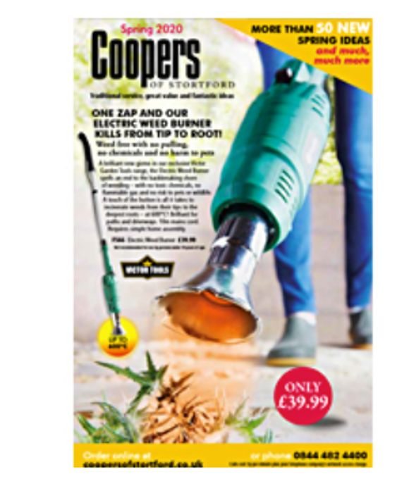 Get A Catalogue From Coopers Of Stortford FREE BY POST