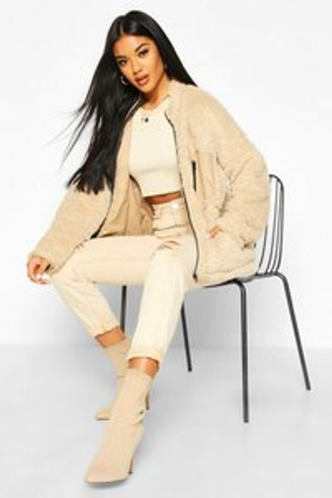 Pocket Detail Teddy Jacket Down From £30 to £12