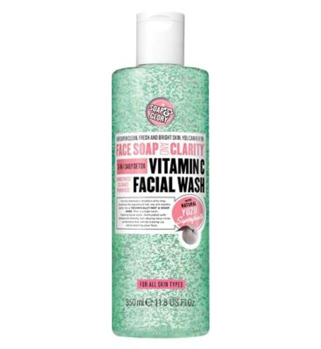 Soap & Glory Face Soap & Clarity 3-in- Vitamin C Facial Wash 350ml