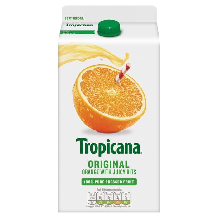 Tropicana Original or Smooth, Half Price at Coop