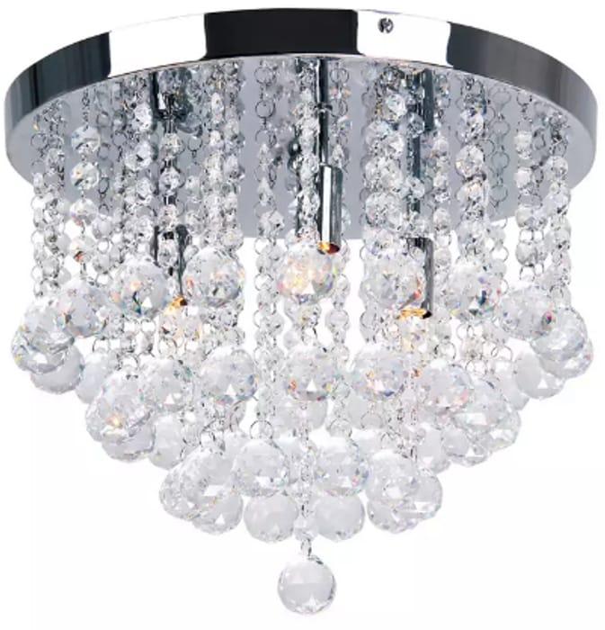 Crystal Flush Ceiling Light - HALF PRICE