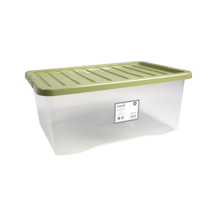 HALF PRICE* 45L Green Plastic Underbed Storage Box FREE C&C