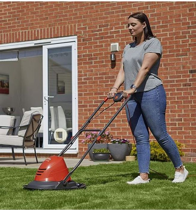 Flymo Turbo Lite 250 Electric Hover Lawnmower - for Small Gardens
