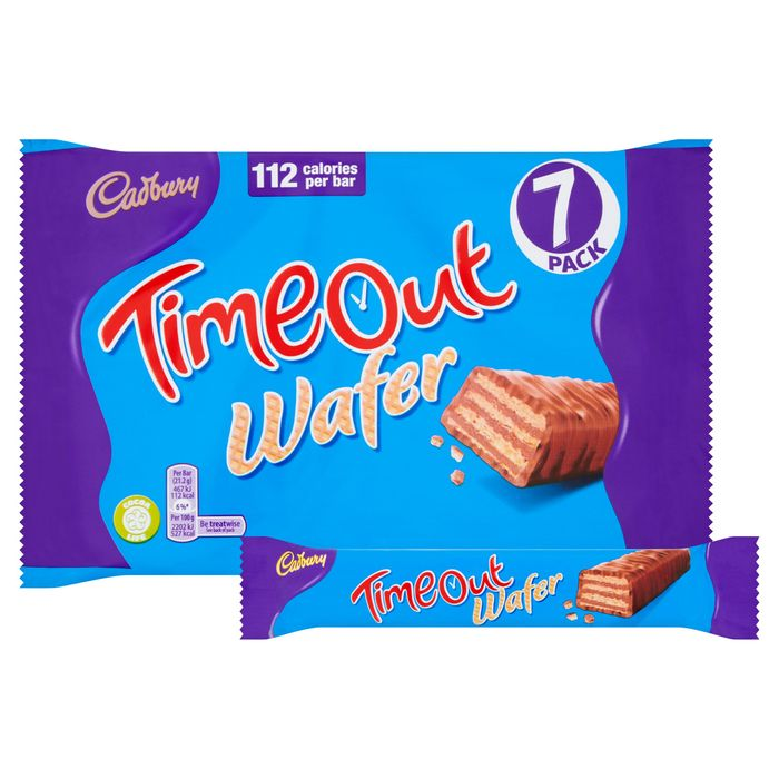 Cadbury Timeout Wafer 7 Pack 148.4G