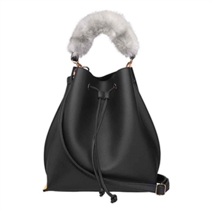 Save £15 on Coveted Lalana Faux Fur Handle Duffle Bag