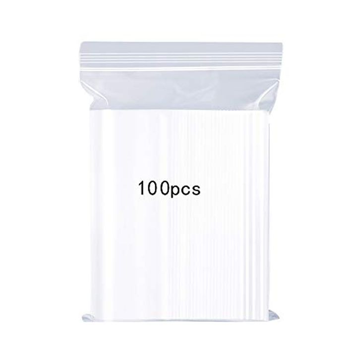Lightning Deal! 100 X Resealable Clear Plastic Bags