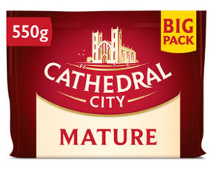 Cathedral City Mature, Extra Mature and Mild Cheddar Cheese 550G - SAVE £2!