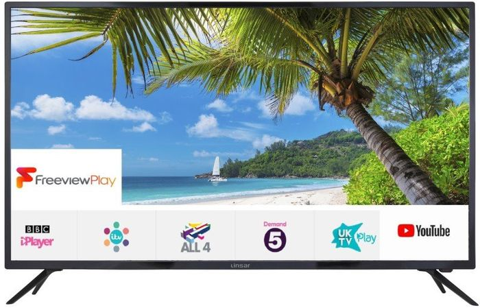 """Linsar 55"""" 4K Ultra HD Smart LED TV with Freeview Play"""