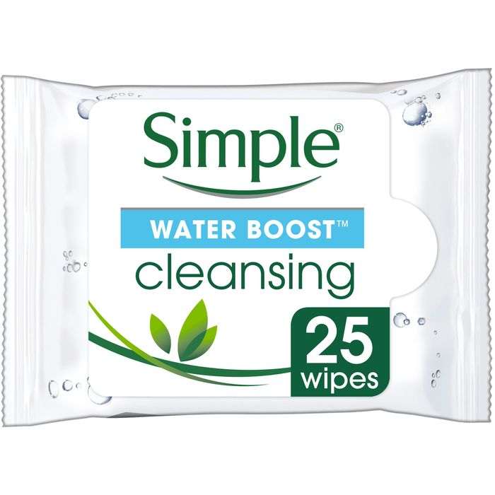 Simple Water Boost Facial Cleansing Wipes X 25 Half Price £2 @Tesco