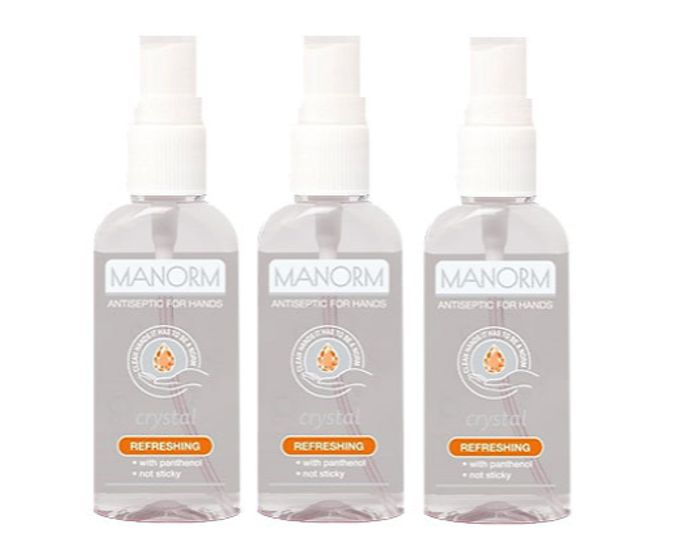 MANORM 50ml Antiseptic Hand Sanitiser Gel - 1, 2 or 3-Pack + EXTRA 10% Off