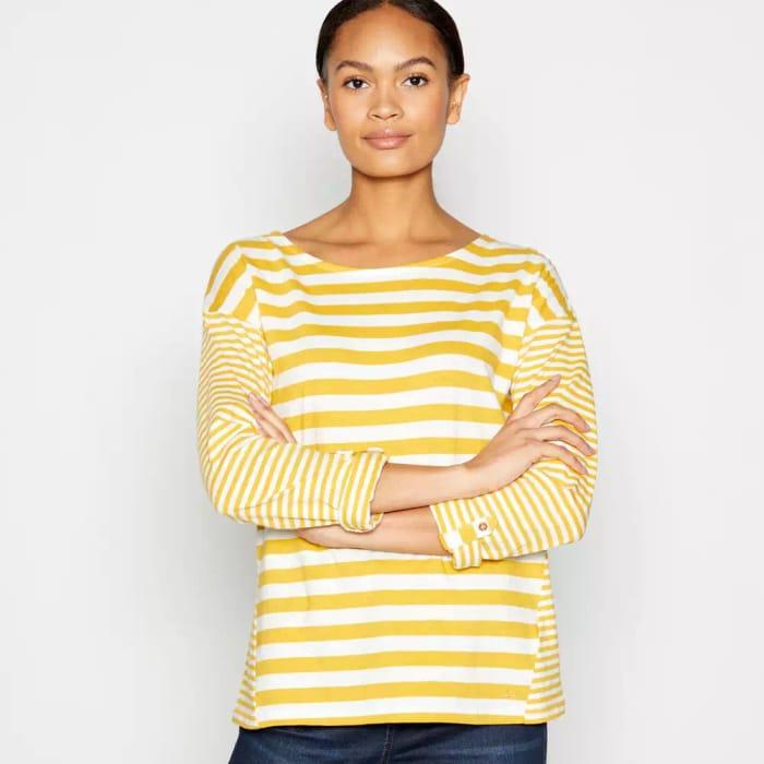 Gold Stripe Print Cotton Top - HALF PRICE