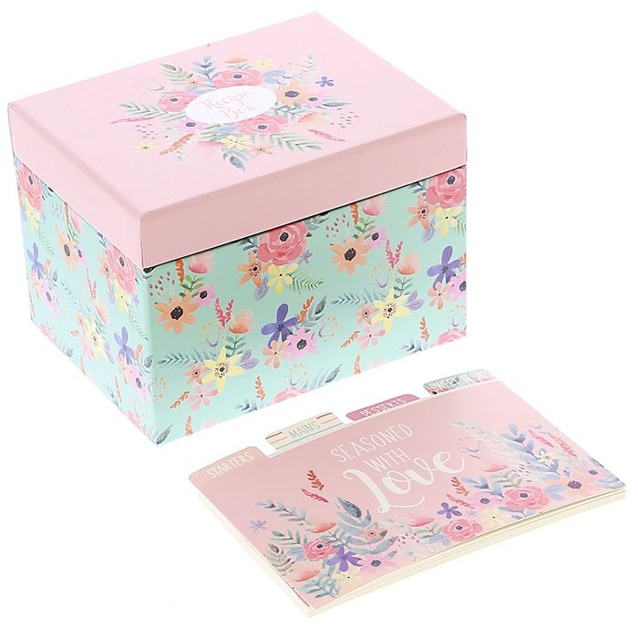 Mother's Day Recipe Box with Cards