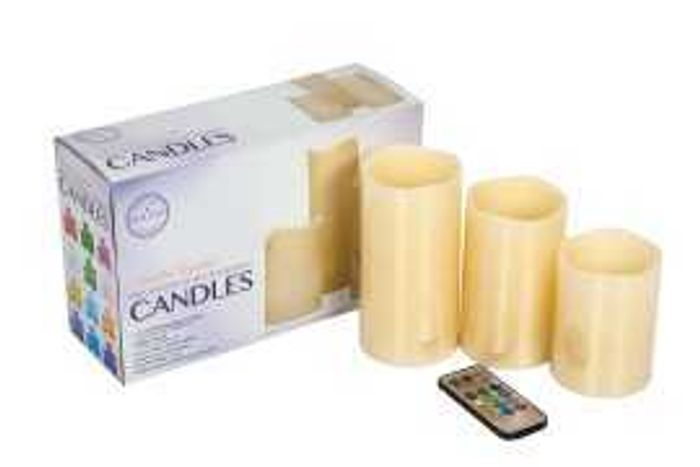 3 Pack Colour Changing Scented Candles