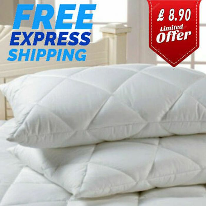 Luxury Pillows Quilted Ultra Loft Jumbo Super Bounce Back Pillows - 2 Pack