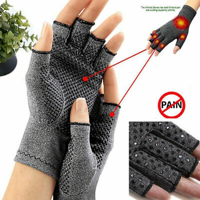 Magnetic Compression Wrist Support Arthritis Gloves Hand Palm Brace Pain Relief