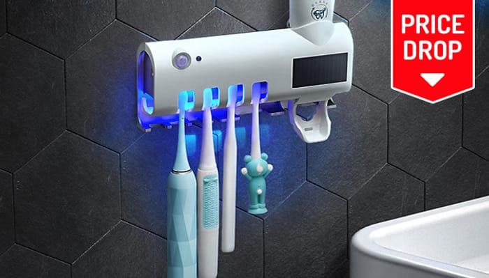 2-in-1 Solar Infrared Toothbrush Steriliser & Toothpaste Dispenser