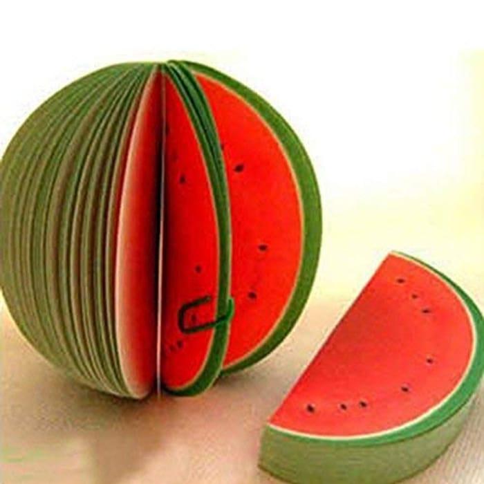 Ogquaton Cute Watermelon Memo Sticky Note Pad Premium Quality