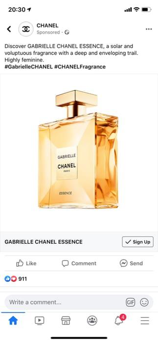 Free Chanel Gabrielle Fragrance Sample.