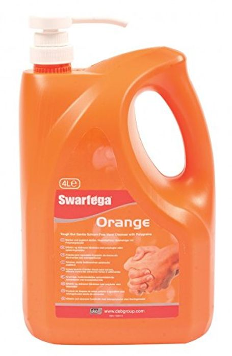 Better than Half Price! Deb Swarfega Orange Hand Cleaner with Pump, 4 L