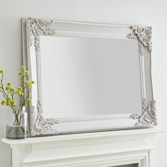 *SAVE £21* Roma Soft Grey over Mantle Mirror