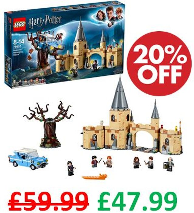 Cheap LEGO Harry Potter Hogwarts Whomping Willow (75953) - Only £47.99!