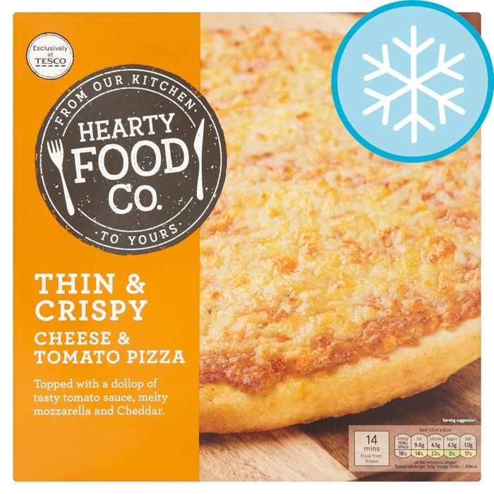 Hearty Food Thin Cheese & Tomato Pizza 314G