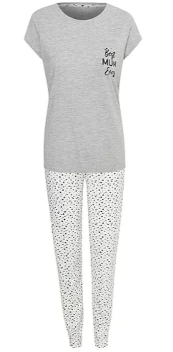 Grey Best Mum Ever Mini Me Pyjama Set Only £10