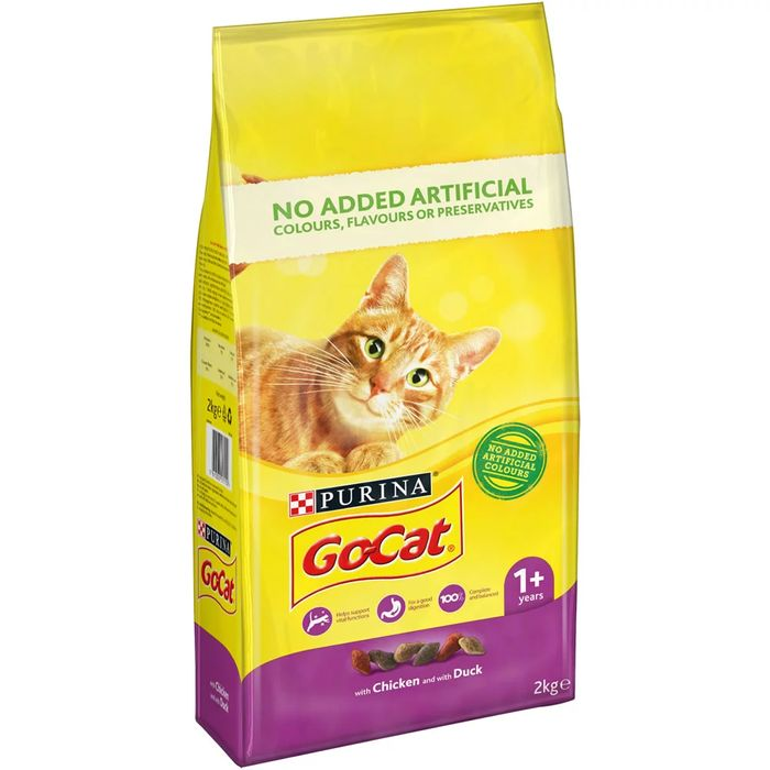 Go-Cat Duck and Chicken Dry Cat Food 2kg